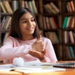 What is SEN - girl speaking sign language