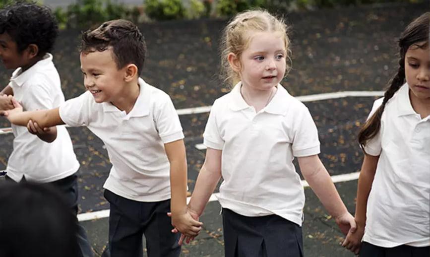 Cherry Burton Primary kids playing